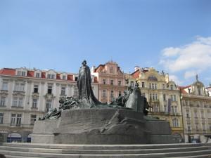 Pomník mistra Jana Husa od Ladislava Šalouna