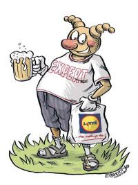 Typický Čech podle slovenského karikaturisty MartinaˇMartin Šútovce