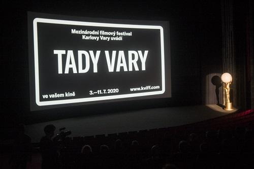 tady vary, reklama na filmy karlovarského filmového festivalu 2020 v kinech po celé ČR