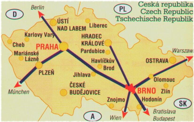 Map of Czech Republiс
